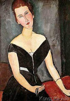 Amedeo Modigliani - Madame G. van Muyden, 1917