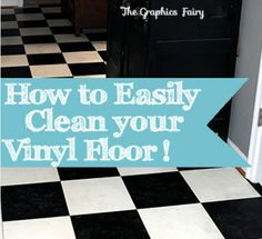 How to Clean Vinyl Floors Easily! Read through all the comments to see how many people said that this tip saved their vinyl floors!