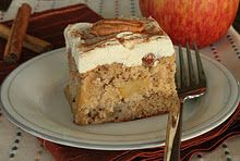 Apple cake with maple frosting ~ going to make this for hubby