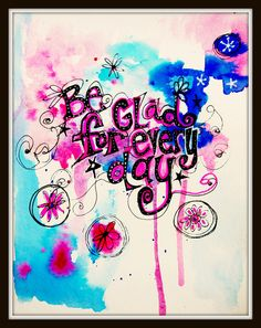 #papercraft #artjournaling Art Journaling be glad for every day