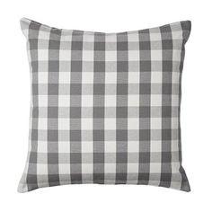 ikea checkered pillow cushion cover 20 x 20 gray white cotton