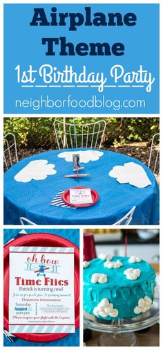 Sharing ideas for food, decorations, and invitations for an airplane themed birthday party!