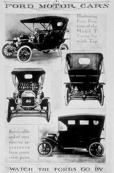 Historia visual de la publicidad automotriz: Desde 1888 hasta 1919 1908%...