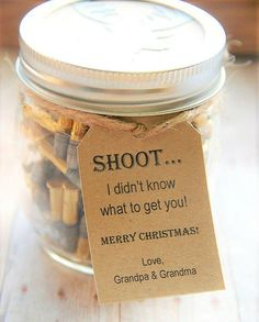 Tags ~ SHOOT! I didn't know what to get you ~ Hard to buy for Men Gift Tags ~ Rectangle Tag ~ 10 Tags