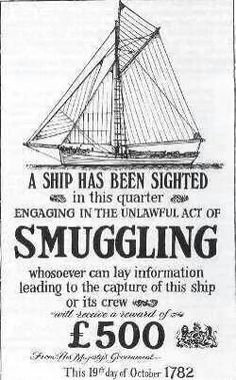 British government anti-smuggling poster, 1782