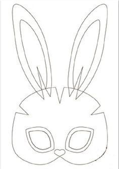 шаблон маски зайки