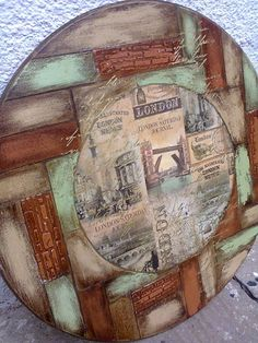 Wood Crafts, Diy And Crafts, Paper Crafts, Big Clocks, Decoupage Art, Mixed Media Canvas, Altered Art, Drawing, Creative Art