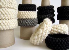 set of 3 hand knitted bracelets - choose your colors