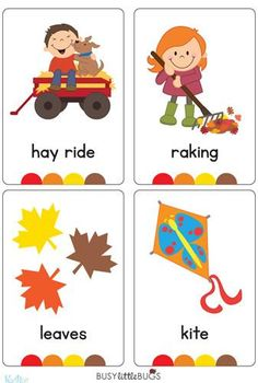"In our ""Seasons Flash Cards"" pack, you will find a flash card for every season, also four flash cards for each season with words relating to each such as ""beach, sun cream, kite"" etc.  There are 20 brightly coloured, high quality printable flash cards in this pack."