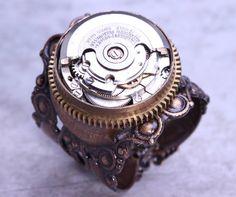 Steampunk Jewelry Mens Steampunk Ring Steampunk by DesignsBloom