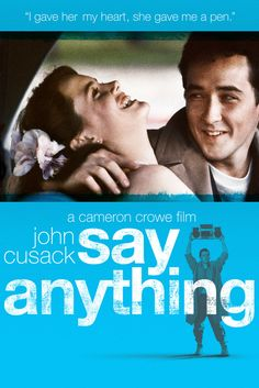 Say Anything Movie Poster - John Cusack, Ione Skye, John Mahoney  #SayAnything, #MoviePoster, #CameronCrowe, #Comedy, #IoneSkye, #JohnCusack, #JohnMahoney