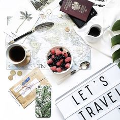 Flatlay Photography styling inspiration | Instagram Travel Tip: How to Master the Flat-Lay via @MyDomaine