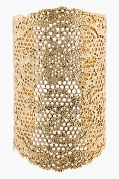 Aurélie Bidermann | Gold-Plated Vintage Lace Cuff