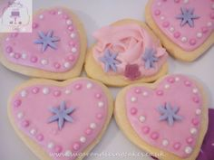 Heart biscuits  Biscuits by Sugar and Icing Cakes Birmingham: Image