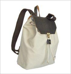 MADE IN GREECE BURBAN-SERRES τσαντες με καραβοπανο απο οικολογικο βαμβακι και δερμα κατασκευασμενες στη Μακεδονια Backpacks, Bags, Fashion, Handbags, Moda, Fashion Styles, Taschen, Fasion, Purse
