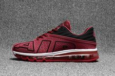 We Are Your Right Choice to get Excellent Nike Air Max Flair Large Air Design Wine Red Black Men Shoes Cheap Shop Nike Air Max Running, Running Shoes On Sale, Cheap Nike Air Max, Cheap Air, Mens Nike Air, Nike Men, Mens Running Trainers, Running Sneakers, Baskets