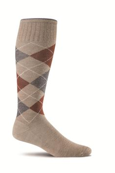 a582b0db6 Sockwell Argyle - Men s Moderate Compression Socks 15-20 Mmhg Khaki - M l