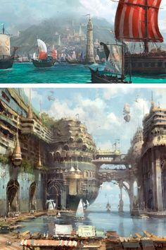 porto da cidade de orgus onde a maioria dos navios mercantes atraca para pegar e deixar mercadorias