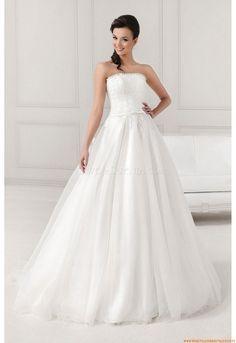 Romantische Brautkleider für Prinzessin aus Softnetz mit Applikation
