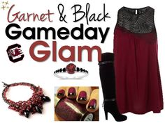 garnet and black USC Gamecocks gameday fashion