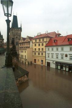 2002 Charles Bridge, River Vltava - The flooding, Prague