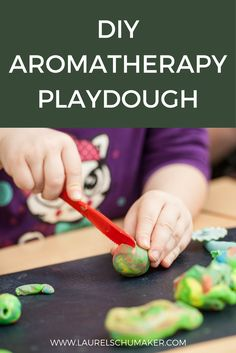Why not turn play time in to learning time by making aromatherapy playdough?  Click for the recipe!  This activity is a perfect way to teach kids about aromatherapy and essential oils.  By using a variety of colors and oils you help them identify new scents and the plants from which they come.  kids crafts, play dough recipe, play dough homemade, play dough activities, playdough ideas, aromatherapy, aromatherapy for kids, essential oils for kids