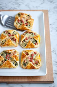 Cheese & Spinach Puffs Make a hit for your next brunch with these ham & cheese puffs. Make a hit for your next brunch with these ham & cheese puffs. Spinach Puffs Recipe, Puff Recipe, Spinach Cheese Puffs, Spinach Recipes, Ham Recipes, Avocado Recipes, Cheese Ball, Noodle Recipes, Steak Recipes