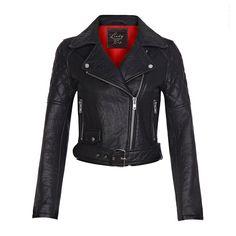 'Rizo' Genuine Leather Biker Jacket - Vintage Inspired Lindy Bop
