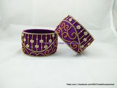 Yaalz Silk Thread Broad Bangles. Available Sizes: 2.6 & 2.8 Rs 300  For Orders Ping Us In Whatsapp +91 8754032250