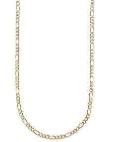 """Figaro Chain 22"""" Necklace in 14k Gold - Necklaces - Jewelry & Watches - Macy's"""