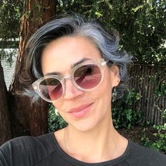 Own those silvery strands, sis!