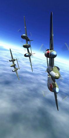 "♂ Plane aircraft wings P-38 ""Lightning"" Patrol 1"
