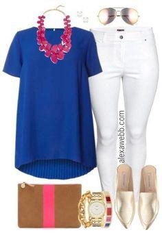9352e7d3340 Plus Size Pleated Back Blouse Outfit - Plus Size Spring Outfit - Plus Size  Fashion for