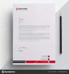 Download - Professional Letterhead Template Vector — Stock Illustration Letterhead Design, Stationery Design, Footer Design, Web Design, Business Card Design, Creative Business, Business Cards, Professional Letterhead Template, Quote Template
