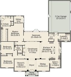 Good floor plan - would make the garage two stories for studio/office space and put the range in the island and remove the wall to the great room so the kitchen and great room merge into one. Description from pinterest.com. I searched for this on bing.com/images