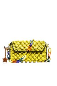 LIME RAFFIA SHOULDER BAG