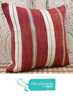 Anatolian kilim pillow cover 16x16 Rustic Kilim pillow cover Natural Kilim Pillow cover Boho Kilim Pillow Cover Turkish Handmade Kilim Pillow from Kilimwarehouse http://www.amazon.com/dp/B01989HTIO/ref=hnd_sw_r_pi_dp_RrsCwb0BHG1J9 #handmadeatamazon