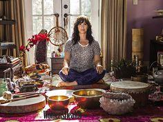 Alanis Morrissette has a beautiful meditation room.
