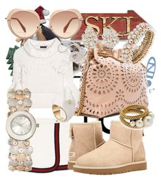 """""""The Icon Perfected: UGG Classic II Contest Entry"""" by bvn01 ❤ liked on Polyvore featuring Silver Forest, Gucci, UGG Australia, Burberry, STELLA McCARTNEY, Miu Miu, Anne Klein, Fred Leighton, Mikimoto and Marc Jacobs"""