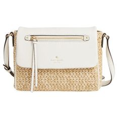 kate spade new york 'cobble hill - mini toddy' crossbody bag (2.314.890 IDR) ❤ liked on Polyvore featuring bags, handbags, shoulder bags, woven purse, mini crossbody handbags, kate spade purses, mini crossbody purse and mini cross body purse