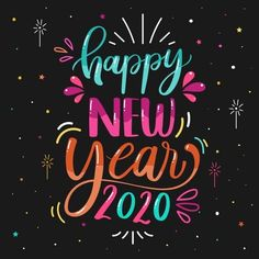 Happy New Year New Year Wishes, Happy New Year 2020, Boot Camp, I Am Happy, Personal Trainer, Vector Free, Neon Signs, Lettering, How To Plan