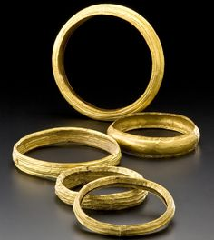 Golden Chokers from Wuerttemberg, 6th century B.C.