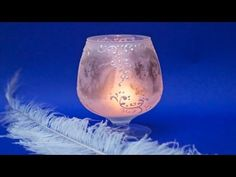 Decoupage tutorial lantern with an artificial frost ------ DIY By Catherine :) - YouTube