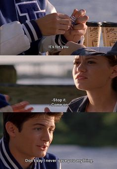 Quotes from One Tree Hill #Nathan #Haley ♥ so cute wish I had a relAtionship like them!