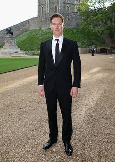 Benedict Cumberbatch — a mighty fine specimen of a man. | Prince William Meets Benedict Cumberbatch