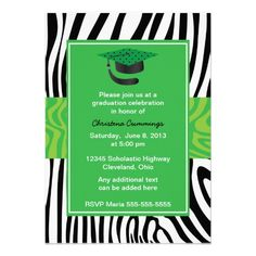 Find customizable Zebra invitations & announcements of all sizes. Pick your favorite invitation design from our amazing selection. Graduation Parties, Graduation Celebration, Graduation Invitations, Custom Invitations, Colored Envelopes, White Envelopes, Green Zebra, Envelope Liners, Smudging