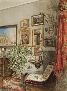 Franz Alt (1821-1914)  — Viennese Interior, 1885 (900×1215)