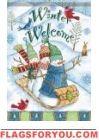 Winter Welcome Garden Flag House Flags, Flag Decor, Garden Flags, Welcome, Snowman, Bunny, Christmas Ornaments, Holiday Decor, Winter