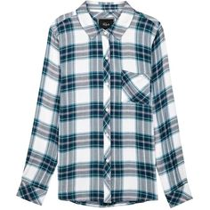 Womens Shirts Rails Hunter Plaid Flannel Shirt ($205) ❤ liked on Polyvore featuring tops, shirts, plaid flannel shirt, plaid top, tartan plaid shirt, blue shirt and tartan top