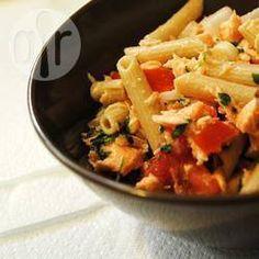 Recipe Picture:Pasta and tuna salad with zucchini and sundried tomato pesto